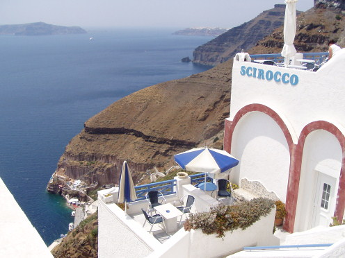 Scirocco Apartments in Fira